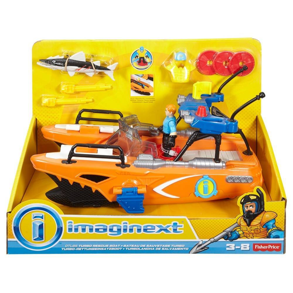 a73f032eb49 Boneco Imaginext Super Barco - Mattel - DTL95 - Bumerang Brinquedos
