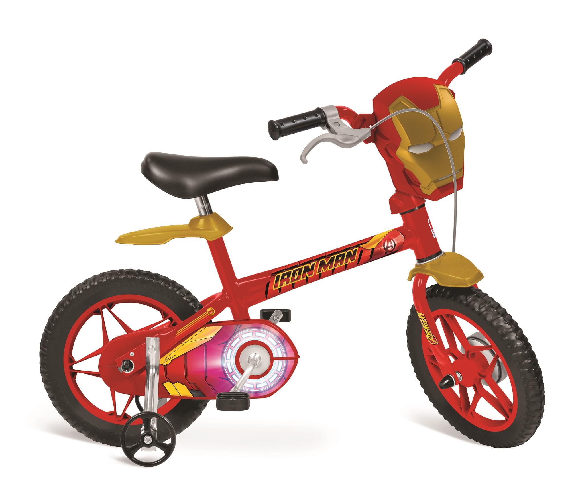 8d49711f2 Bicicleta Infantil Aro 12 Homem de Ferro - Bandeirante - BAND3020 ...