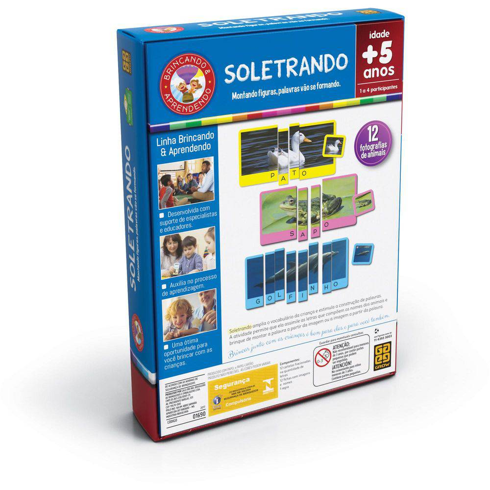 dd1e47765a0 Jogo Educativo Soletrando - Grow - GROW01690 - Bumerang Brinquedos