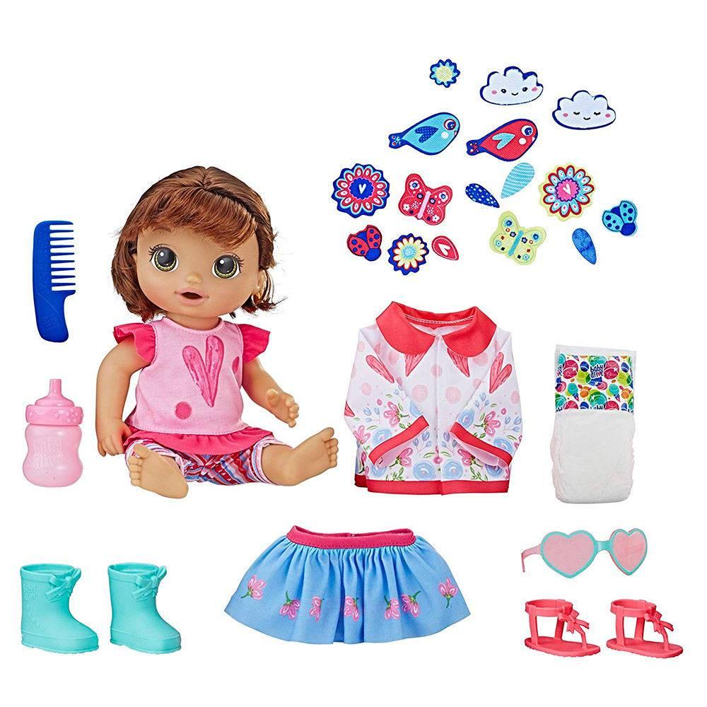 3d483f6b64 Boneca Baby Alive - Vestida para Passear - Morena - Hasbro - E2102 ...