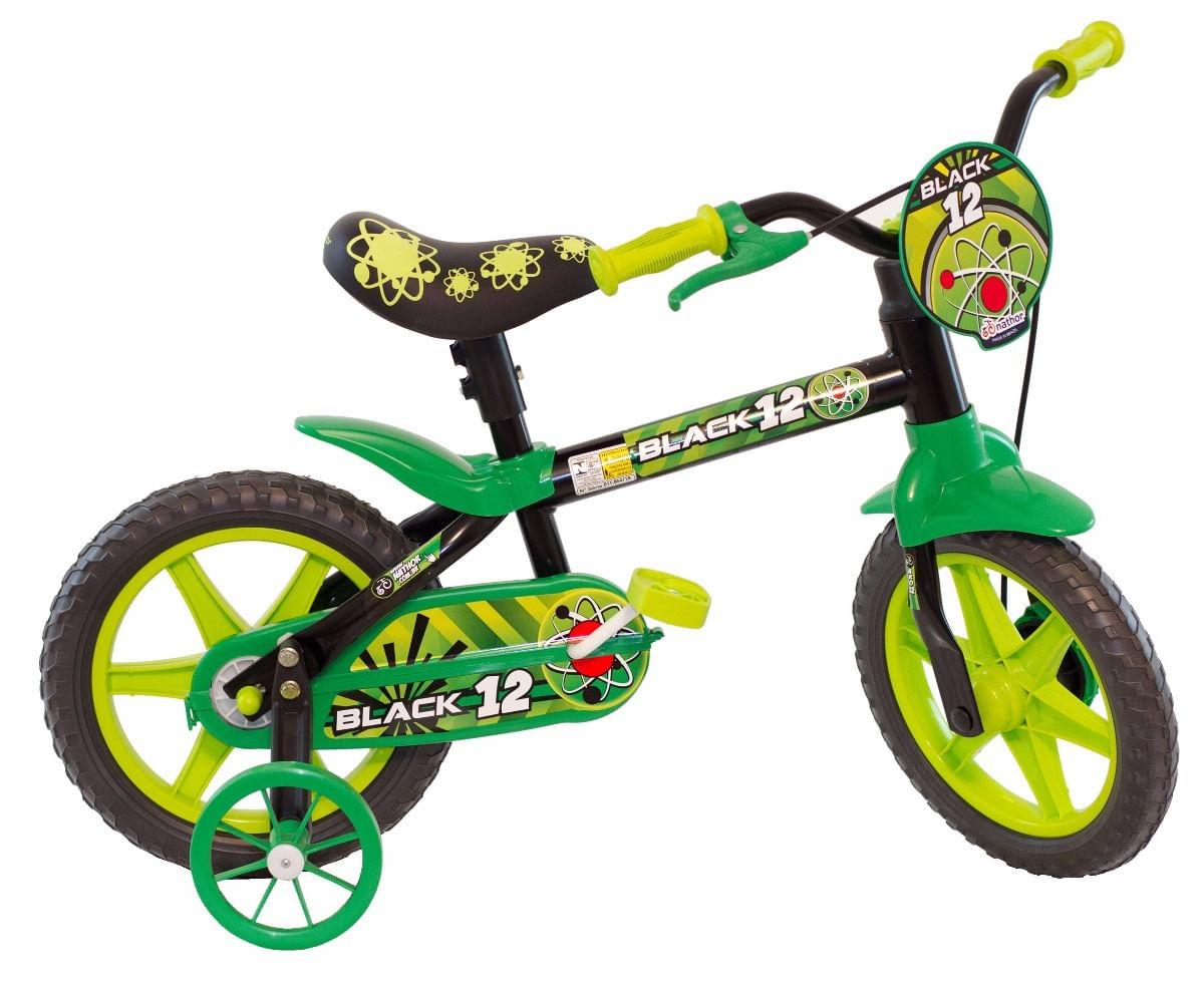 05a5d5657 Bicicleta Aro 12 - Black Selim PU - Nathor - NAT160030 - Bumerang ...