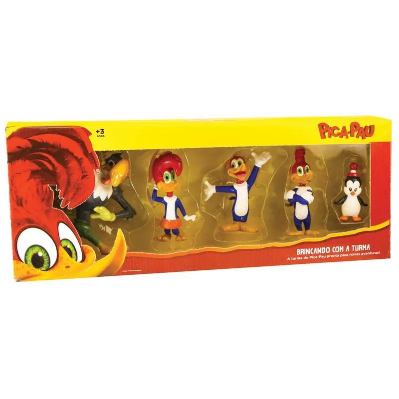da065c5ed5300 Conjunto 5 Figuras Colecionáveis - Pica-Pau Brincando com a Turma - DTC -  DTC4229 - Bumerang Brinquedos