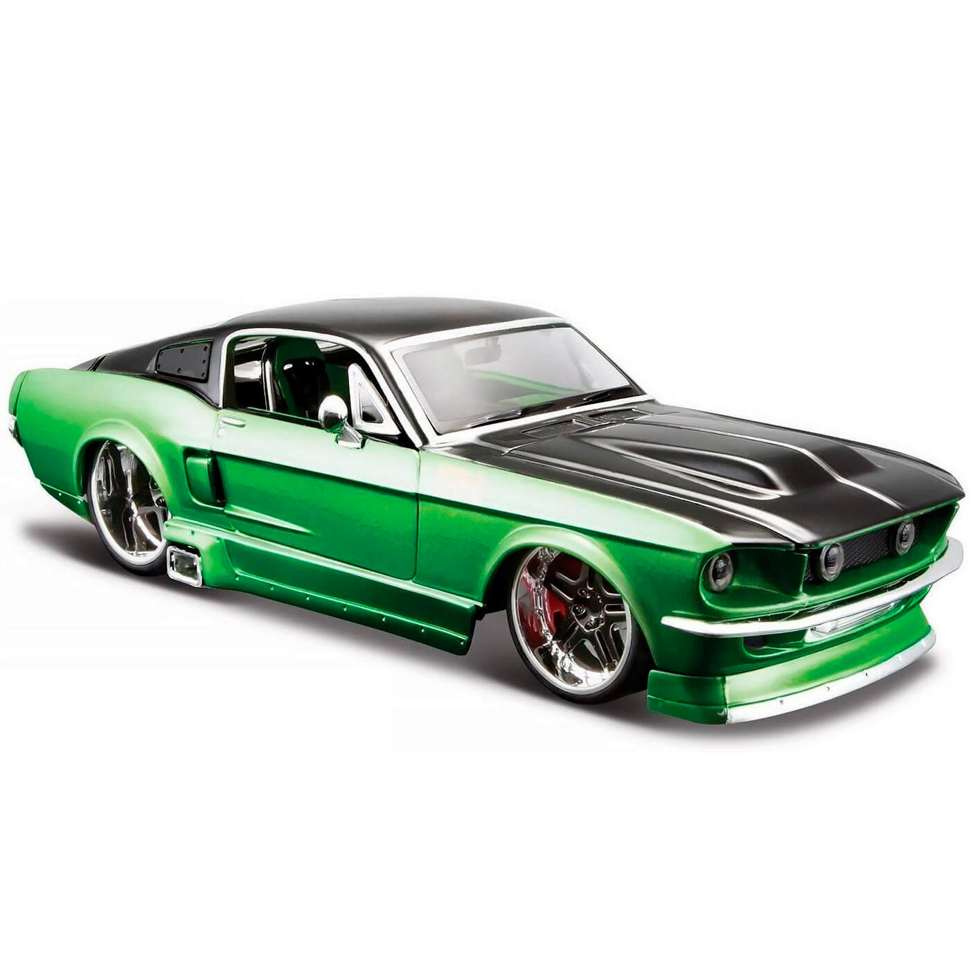 Miniatura Carro 1967 Ford Mustang Gt 1 24 Kit De Montar Maisto Assembly Line Mai39094 Bumerang Brinquedos
